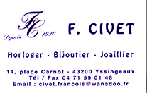 Partenaire Bijouterie Civet Yssingeaux : Accès au site web