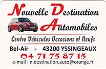 Partenaire Nouvelle Destination Automobiles : Accès au site web