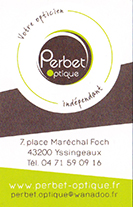 Partenaire Perbet-optique : Accès au site web