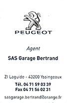 Partenaire Garage Bertrand Peugeot Yssingeaux : Accès au site web